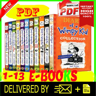 Diary of a Wimpy Kid 1 -13 Books Collection Set Brand New ⚡ P.D.F⚡ (download) 📧