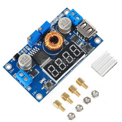 5A CC CV LED Driver Lithium charger Power Step-down Module W/ USB Port Voltmeter