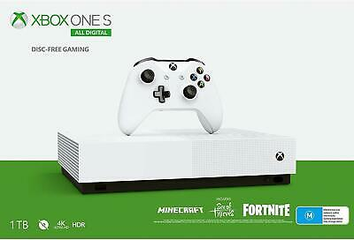 Xbox One S - All Digital Edition - includes Minecraft, Seas of Thieves, Fortnite