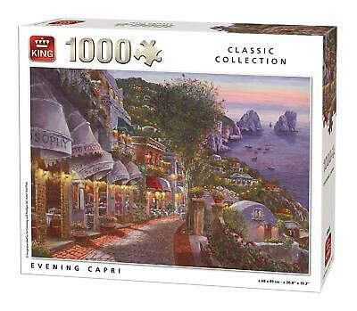 1000 Piece Classic Collection Jigsaw Puzzle - Evening In Capri Italy Night 55863