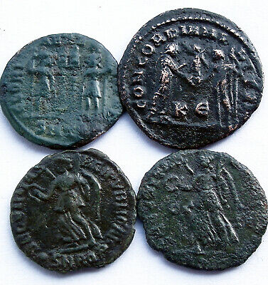 4 Genuine ancient Roman coins -  UK Find
