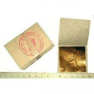 24 K Goldfolie 45 mm x 45 (Packung 100 in Base 100% Echt