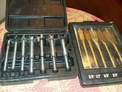 Handyman Club of America 7 Pc Forstner Drill Bit Tool Set + 6 Pc Router Bit Set