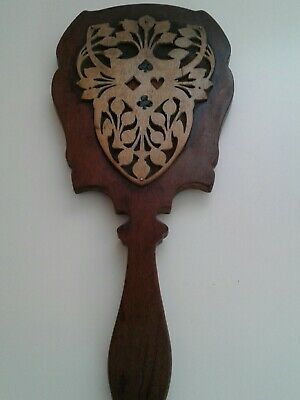 arts and craft wooden hand mirror