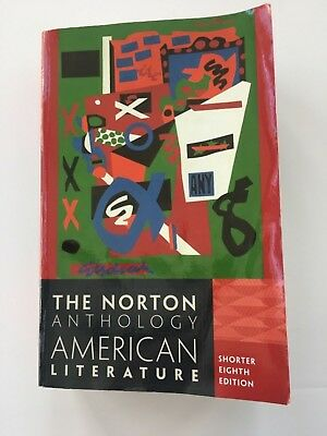 The Norton Anthology American Literature Book Shorter Eighth Edition Text Book