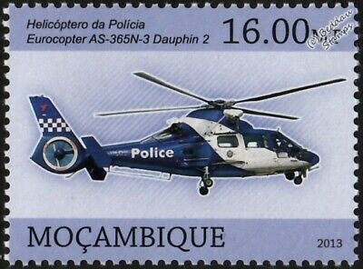 Eurocopter AS-365N-3 Dauphin 2 Victoria Police Helicopter Aircraft Stamp (2013)