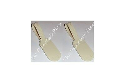 Tupperware 2 Suitcase Luggage Id Name Tags Almond Cream Gadgets New