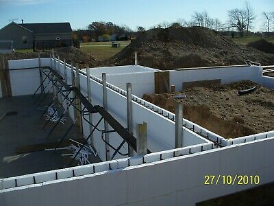 "Belco insulated concrete forms-5"" or 7""-build your energy efficient dream home!"