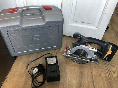 Performance Power NLE18VTS 18V Cordless Circular Saw In Case + Battery + Charger