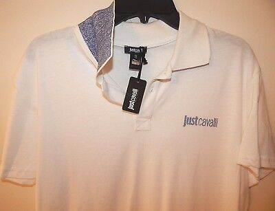 7af758908a JUST CAVALLI MENS BEACHWEAR 100% COTTON SHIRT WHITE sz XL(52) NEW AUTHENTIC