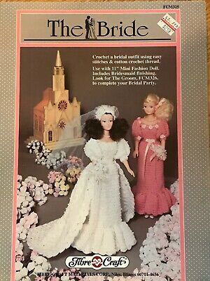 "Annual Bride 1994 15/"" Doll Dress Crochet PATTERN//INSTRUCTIONS Leaflet FCM358"
