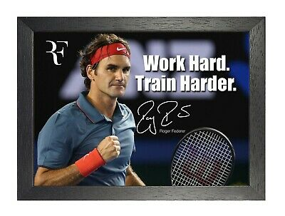 Roger Federer 30 Swiss Tennis Player Poster Sport Motivation Quote Signed Photo