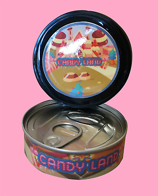 8 x Candy Land Cali Stickers Labels & 3.5g Press it in Tuna Self Seal Tins