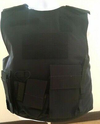 Armor Express body armor vest-Black- Size Large-New