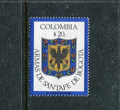 Statesman//Coat of Arms//Flower//425b UNC Colombia 50 Pesos 1.1.1986