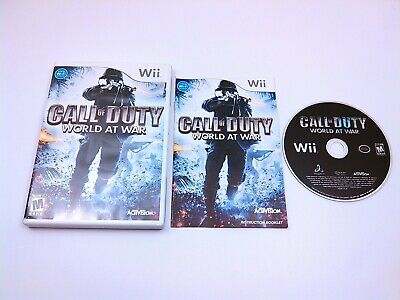CALL OF DUTY: WORLD AT WAR Nintendo Wii game COMPLETE + MINT DISC Tested & Works