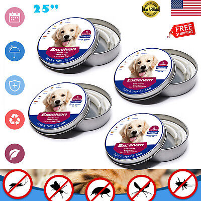 """4x Pet Dogs Anti Flea and Tick 6 Months Protection Collar for All Sizes Dogs 25"""""""