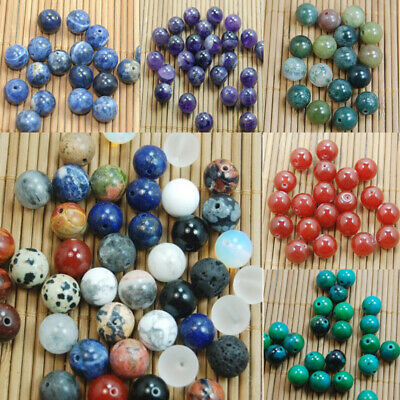 Wholesale DIY Making Natural Gemstone Round Spacer Beads Jewelry 4mm 6mm 8mm10mm