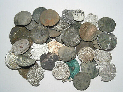 Lot of 37 Medieval Silver and Bronze coins, between 1300 - 1600