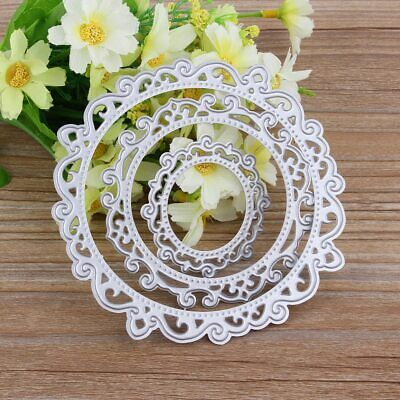 Metal Cutting Dies Round Die Cut Lace Circle Rectangle Oval Frame Background