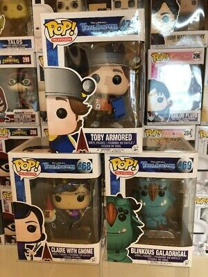 Funko POP Vinyl Bundle - TV Trollhunters Blinky (blinkous) & Claire With Gnome
