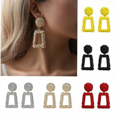 Women Ladies Large Big Dangle Drop Earrings Party Gold Fashion Long Jewelry New