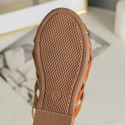 New Children Kids Girls Roman Hollow Sandals Toddler Baby Gladiator Weave Shoes
