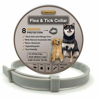Flea and Tick Collar for Dogs - 100% Natural Essential Oil 8 Months Protection