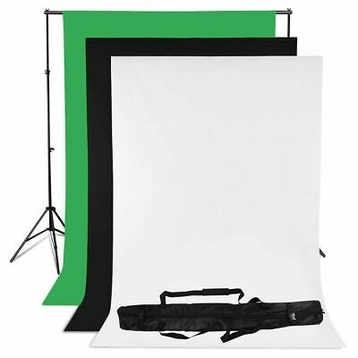 Photo Black White Green Backdrop Chroma Key Studio Background Support Stand Kit