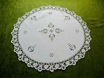 Antique Table Center - Hand Embroidery & Bobbin Lace