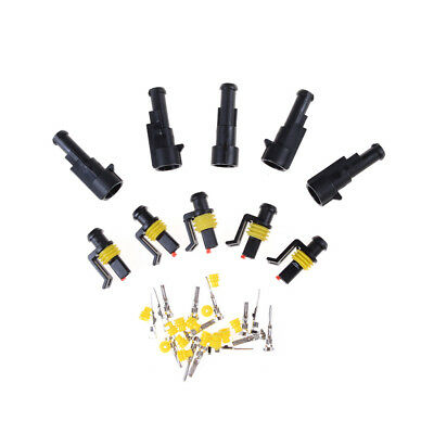 5 Kits 1-6Pin Way Sealed Waterproof Electrical Wire Connector Plug Car Auto DS