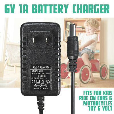 6V 1A Ride On Car Charger AC Adapter For Kids Electric Ride On Car Bike