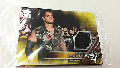 2016 Topps WWE Baron Corbin Card NXT London Takeover Authentic Mat Relic 421/499