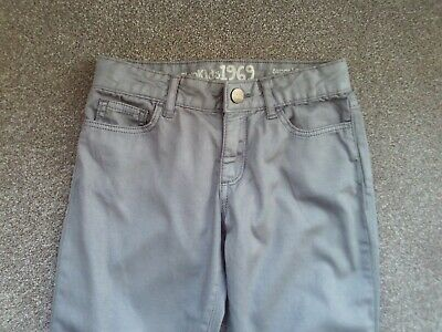 Girls light silvery grey trousers - age 7 years - super skinny - GAP Kids