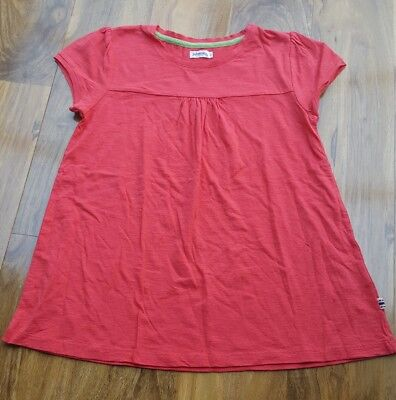 Mini Boden Girls Fabulous cotton red soft Top. Size S. Brand new.
