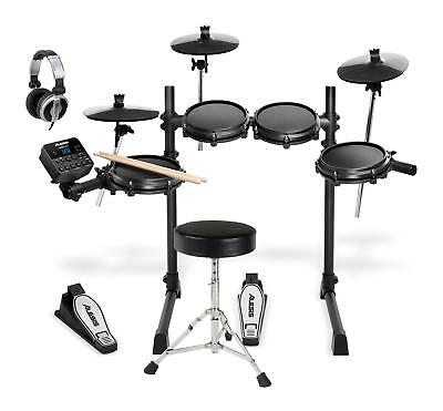 Alesis Turbo Mesh E-Drum Kit Schlagzeug Set Snare Drum Modul Kopfhörer Hocker
