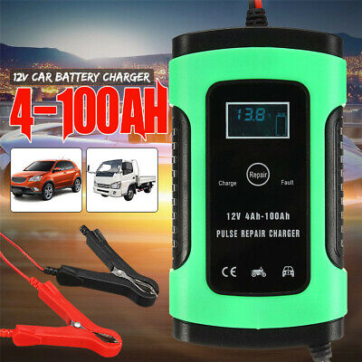 12V Auto Voiture Chargeur de batterie Intelligent 4-100AH impulsion Réparation