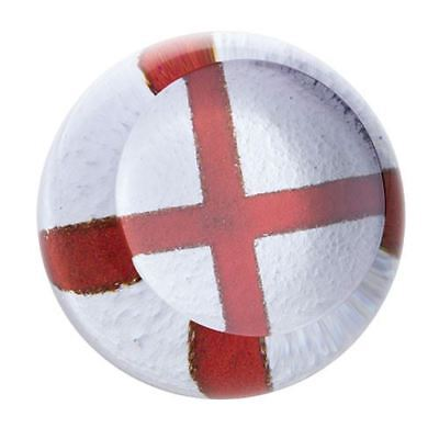 Caithness Glass Abstract English Cross of St George Flag Paperweight