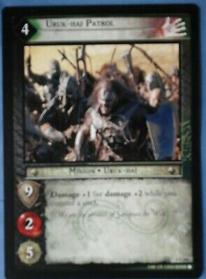 The Lord Of The Rings Trading Card ,uruk-Hai Patrol . 4C206