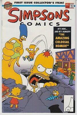 Simpsons Comics # 1  Vf/nm  Key First Issue Bongo Comics  1St Print  Cents  1993