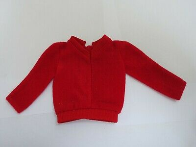 "♥ BARBIE KLEIDUNG ♥ Ken Pullover ""Fashion Collectibles"" Rot ♥ 1980 #1377 Mode"