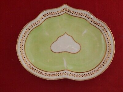 EARLY 19th CENTURY DERBY HEART SHAPED DISH.CROWN & BATONS MARK.