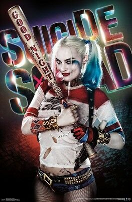 Suicide Squad - Good Night Margot Robbie Wall Poster - 22x34 - FREE S/H