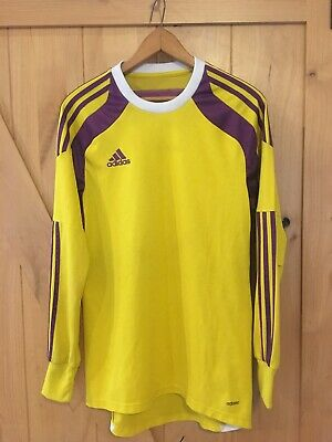 0473d5c5b5e Adidas AdiZero Onore 14 GK Yellow & Purple Long Sleeve GoalKeeper Jersey Men  M