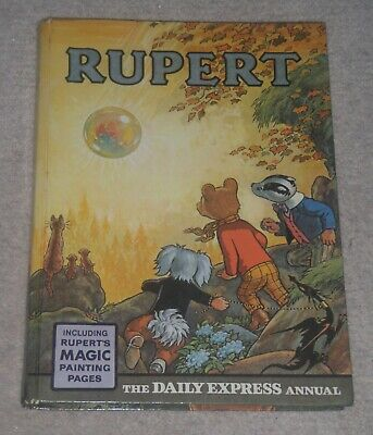 1968 Rupert Bear Annual Magic Paintings Not Done Not Inscribed Price Clipped