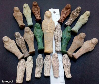 21 Very rare ANCIENT EGYPTIAN ANTIQUE USHABTI Shabti faience 1785-1659 BC