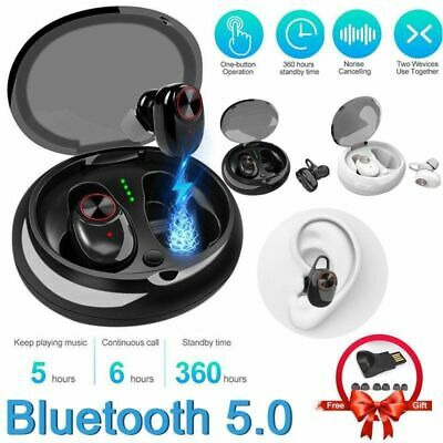 Wireless Bluetooth 5.0 InEar Earbuds Sport True Headset Deep Bass Twins Earphone