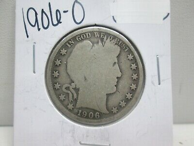 1906-O Us Barber Silver Half Dollar