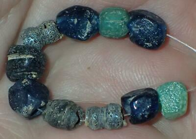 10 Ancient Rare Roman Glass beads, 6-7mm, 1800+Years Old, #S405