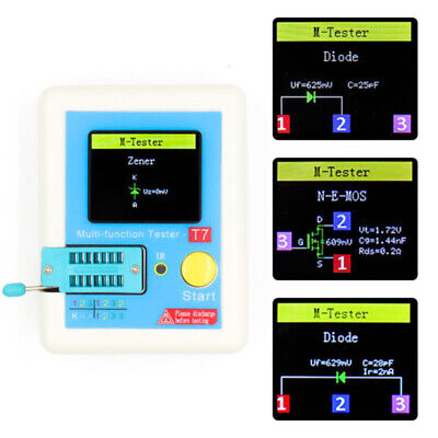 blue Colorful TFT Backlight Display Transistor Tester for Diode Triode Capacitor